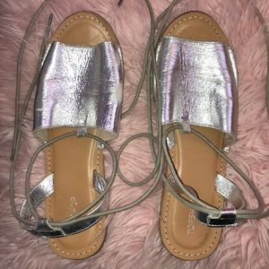 Topshop Silver Sandals